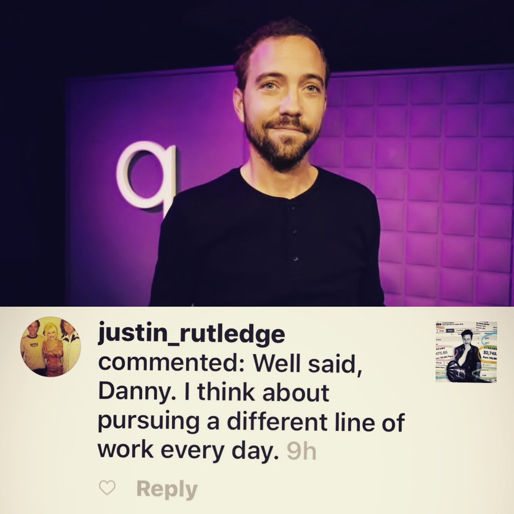 """JUSTIN RUTLEDGE - More honest words from another one of Canada's finest songwriters. After a meaningful chat and plan to get on the phone this week Justin also wrote """"…yes please share my post on FB. I'd love to become part of the discussion. Let's talk"""". Thanks JR!"""