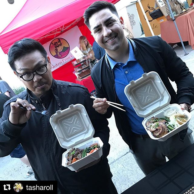 SPRING BREAKERS!☀️ Catch us @pacificbeachmarket every Tuesday, we'll be releasing special market bento boxes and more NEW NEW nom noms!! 🍱 🍤 🍚 🌶 🍋  #Repost @tasharoll ・・・ I love these guys, I do! 😂😂😂 #nomnombento