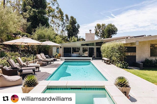 📍1233 N Tigertail Road $8,900,000 - Once the home of legendary L.A. architect & modernist pioneer A. Quincy Jones; this contemporary masterpiece is nestled into the Santa Monica Mountains high above Sunset Blvd. Experience the serene feeling of living in Santa Barbara while only 3 minutes away from Brentwood Canyon. - ⇲ Repost @williamsandwilliams