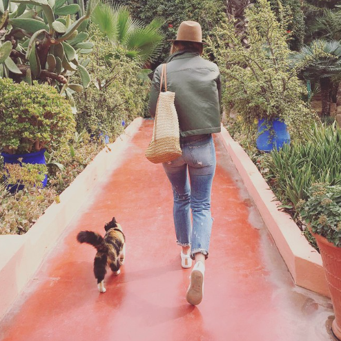 Strolling through the gardens with a new, four-legged friend, in tow.