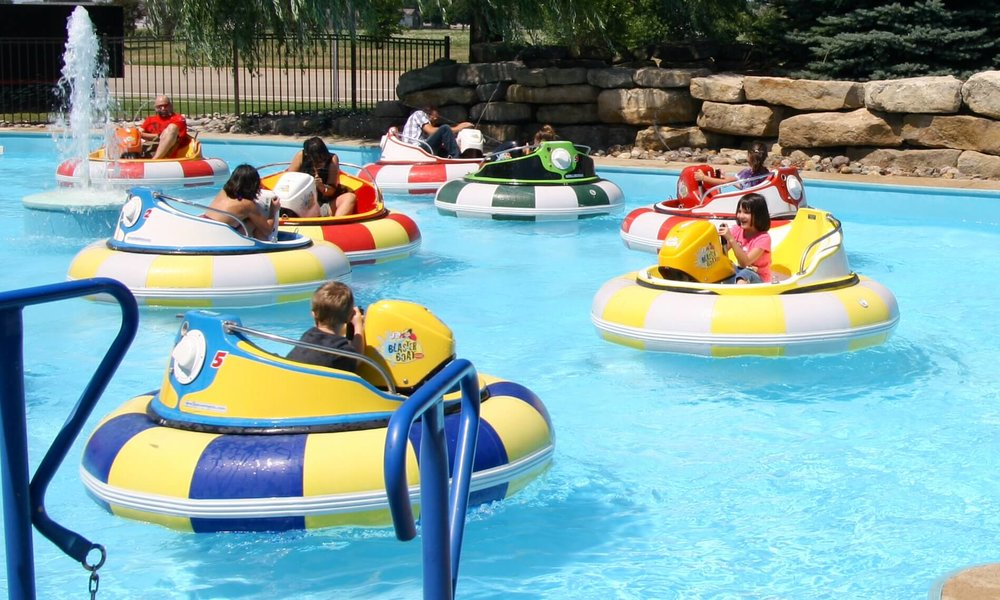 Bumper Boats - Try to avoid getting wet from fellow boater as they try to drench you with their water squirters or bump you into other boaters or even trap you near the water falls!Make a purchase of a myUpside brand at Woodman's before July 3.