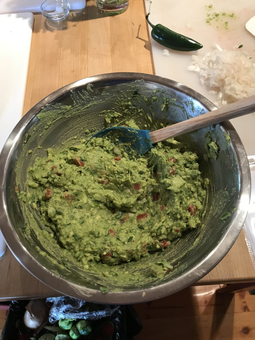 The guacamole that I made as part of the lunch.