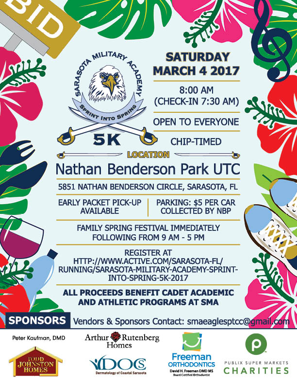Illustrated Poster for Sarasota Military Academy's Spring Festival 2017