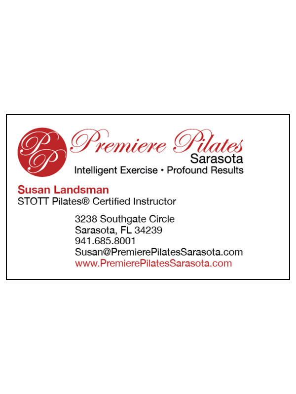 Premiere Pilates Sarasota Business Card - Front