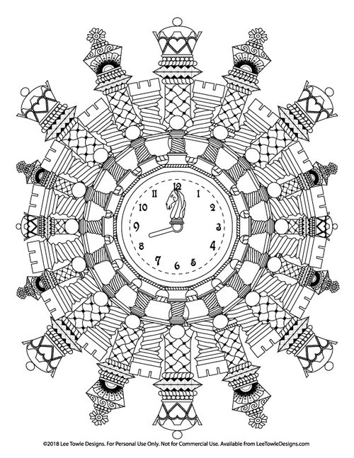 Mandala Made Of Chess Pieces Advanced Coloring Page For Adults