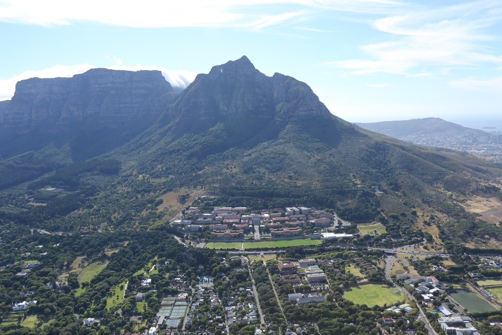 University of Cape Town and Table Mountain, South Africa