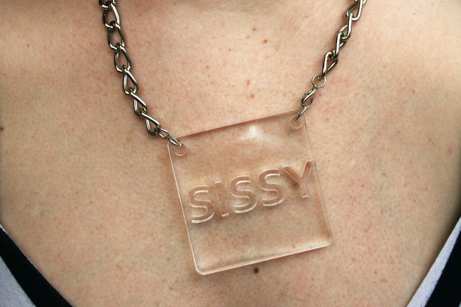 Sissy square pendant necklace steer queer sissy square pendant necklace aloadofball Images