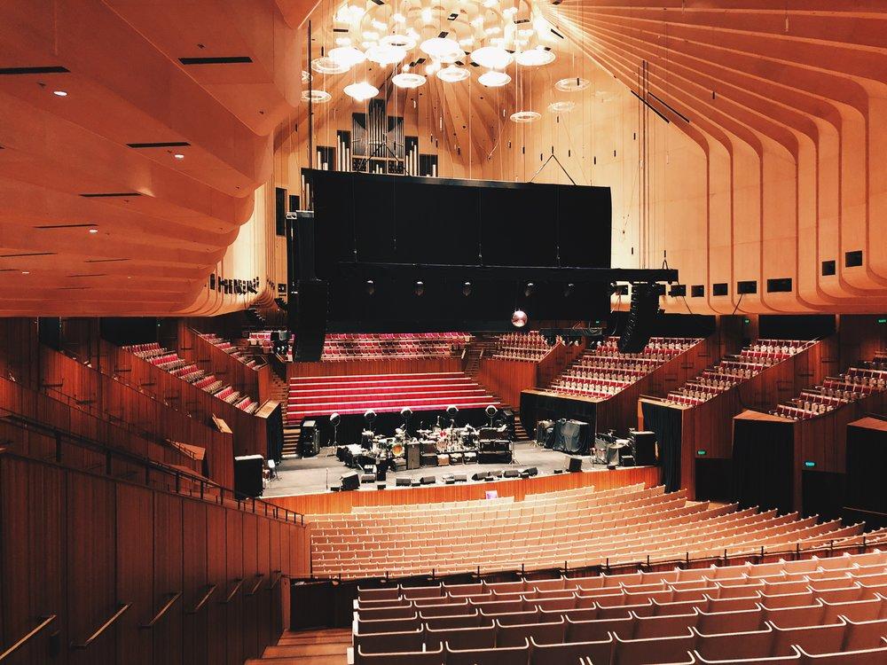 Concert Hall, Sydney Opera House, Sydney, NSW, Australia.