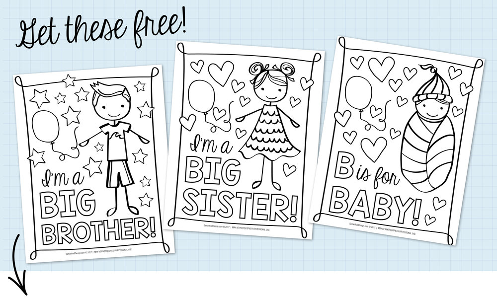 Free Coloring Sheets for Baby Shower