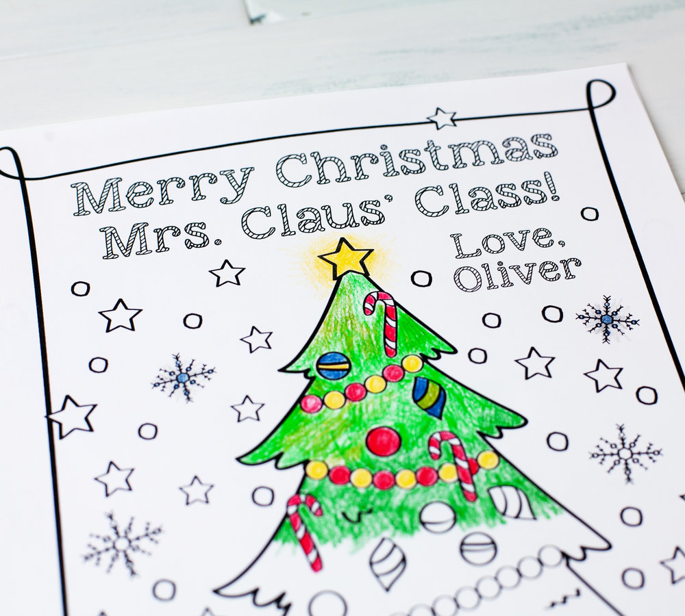 Christmas Tree Coloring Sheet