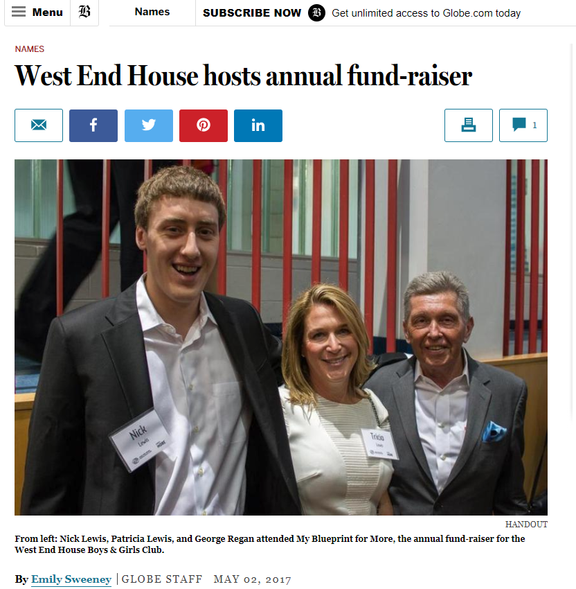 Boston Globe's article on West End House, a charity that I photograph for.  Read More Here >>