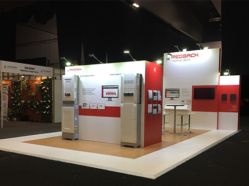 SPOT ON DESIGN DEVELOPMENT AND HIGH QUALITY STAND BUILD - REDBACK TECHNOLOGIESMAREE MILLS MARKETING & PR MANAGER