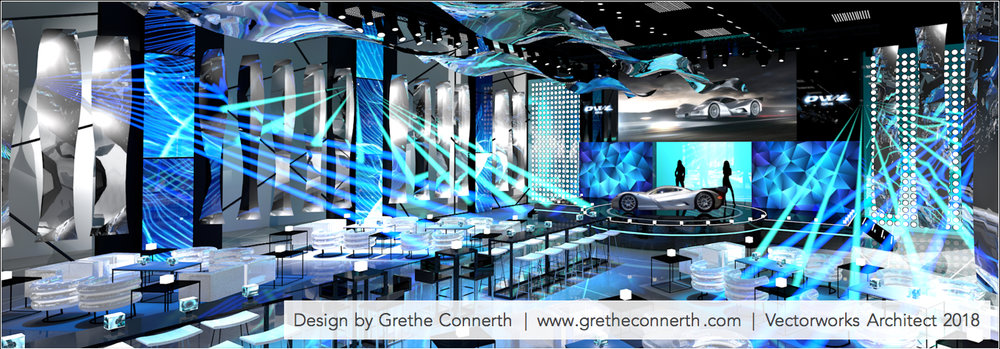 EVENT ENVIRONMENT - CREATING AMBIENT COLOURED LIGHTS, REFLECTIVE SURFACES, FOG LIGHTING, LED, AV & BACKLIT GRAPHICS