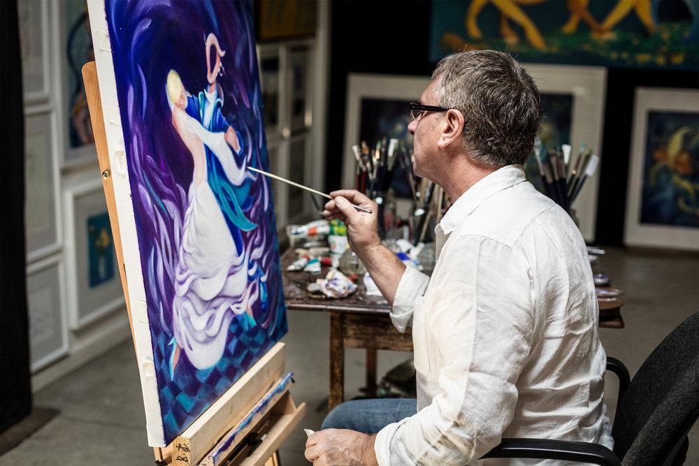 Payne in his studio