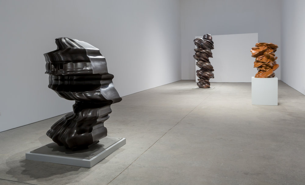Installation views of Tony Cragg's solo show at Leila Heller Gallery, Dubai, March 2017. Courtesy of Leila Heller Gallery.