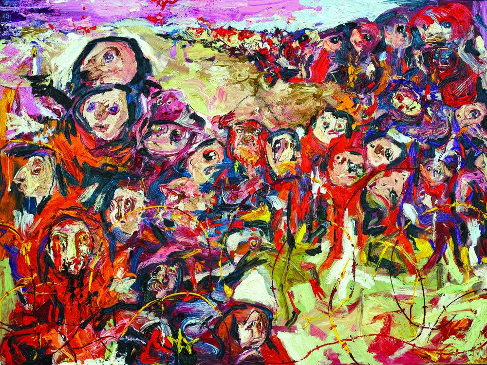 Sahmarani, Marwan. I Had a Dream III (2016) Oil on canvas, 225 x 300 cm.Courtesy of Leila Heller Gallery