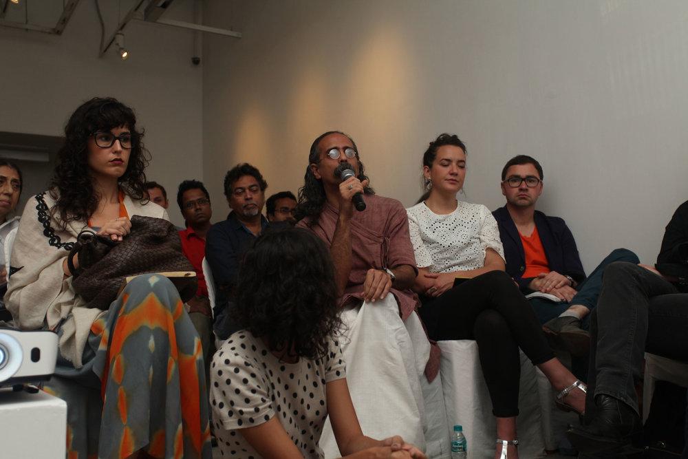 Noelle Kadar, Ashish Avikunthak, Aisling Maeve, Matt Packer at ECH, 2015. Courtesy of Experimenter Gallery.