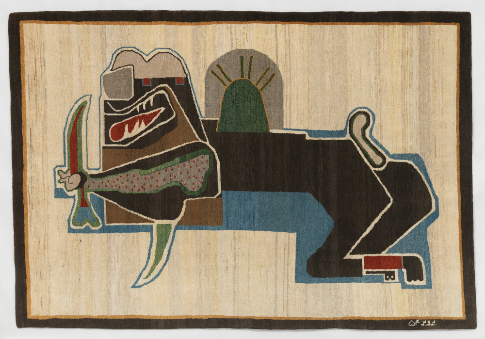 Parviz Tanavoli, Lion and Sword II , 1979, © Parviz Tanavoli, photo © Museum Associates/LACMA