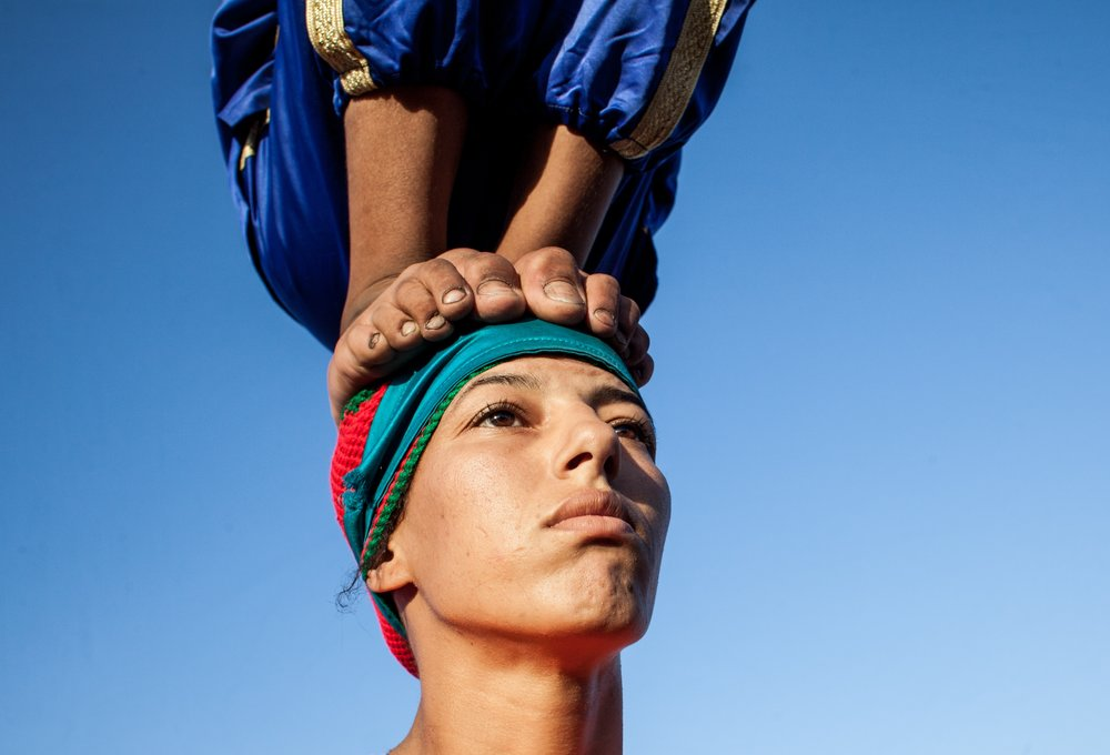 Yassine Alaoui Ismaili. Karima, The Acrobat. Shot in Marrakesh, Morocco