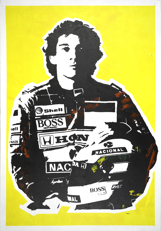 Ayrton Senna by Julian Castaldi. Courtesy of the artist and Mestaria