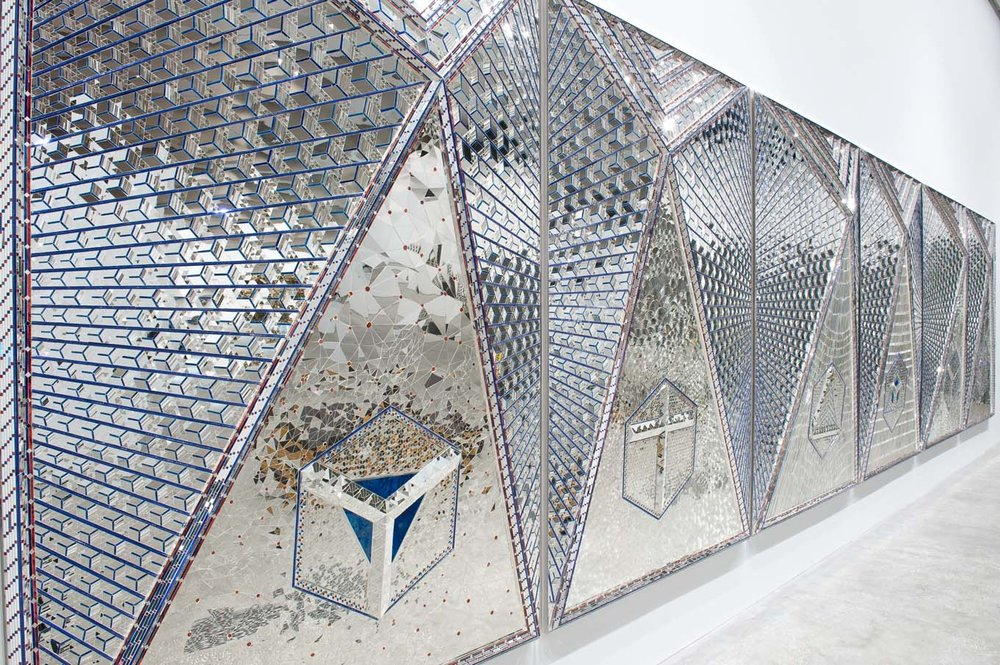 Monir Shahroudy Farmanfarmaian, Lightening for Neda, 2009, Queensland Art Gallery, Installation View. Courtesy of the artist and The Third Line.