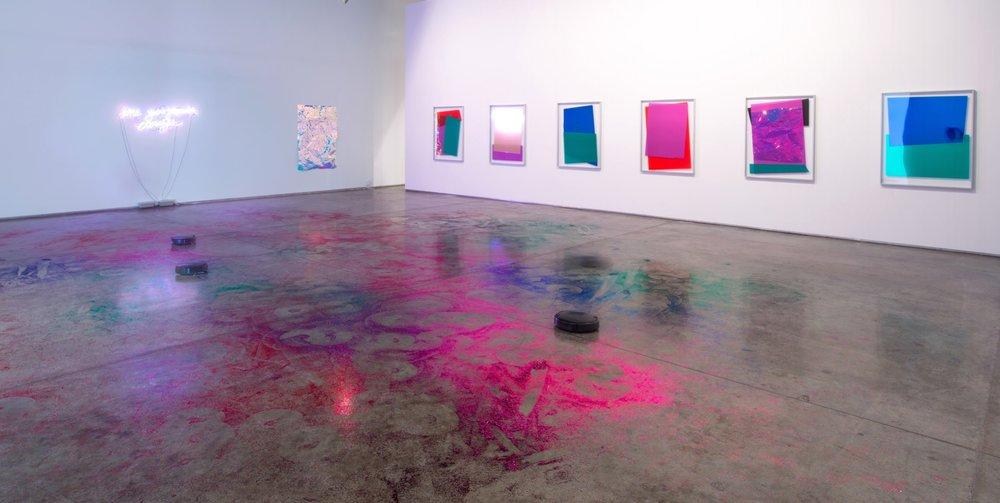 Installation view of :mentalKLINIK's exhibition Truish. Image taken November 2017. Courtesy of Gallery Isabelle Van Den Eynde.