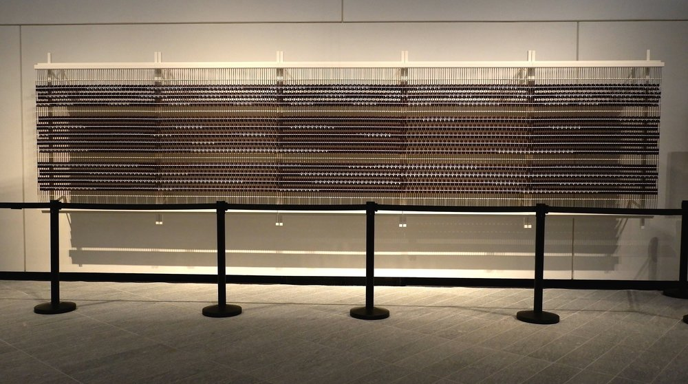 Vikram Divecha and MTX - Broderie Architecturale. Train to Rouen (2017). Image courtesy of Louvre Abu Dhabi.