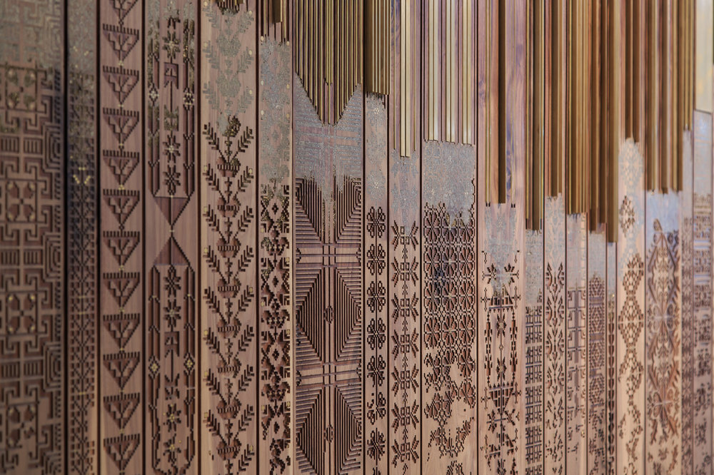 The Shawl (detail) by Naqsh Collective. One of the shortlisted artworks for Jameel Prize 5. Image courtesy of the artists.