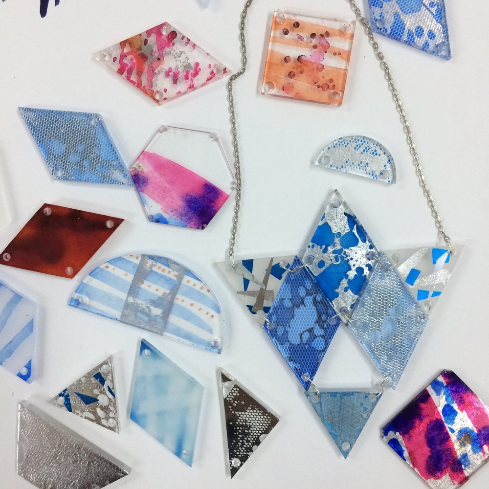 Geometric Jewellery, as taught by Fay McCaul during her Tashkeel workshop. Image courtesy of Tashkeel.