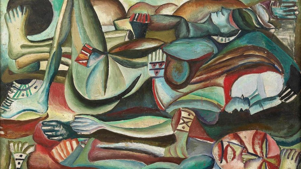 Shakir Hassan Al Said's untitled painting from 1957, part of the Baghdad Group for Modern Art