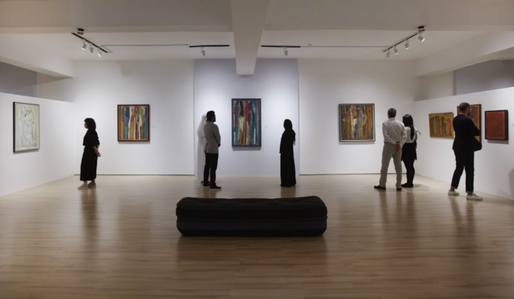 Installation view. Paul Guiragossian: Testimonies of Existence. Image courtesy of Barjeel Art Foundation.