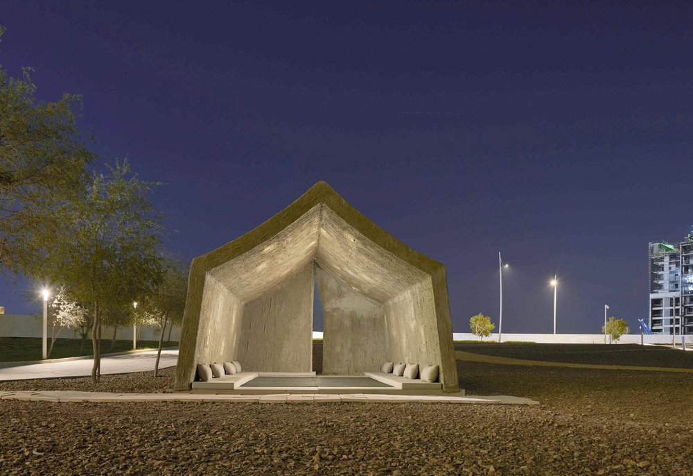 Sandi Hilal and Alessandro Petti.  The   Concrete Tent , 2015 – 2018. Courtesy of the Artists and NYU Abu Dhabi Art Gallery. Image by JohnVarghese