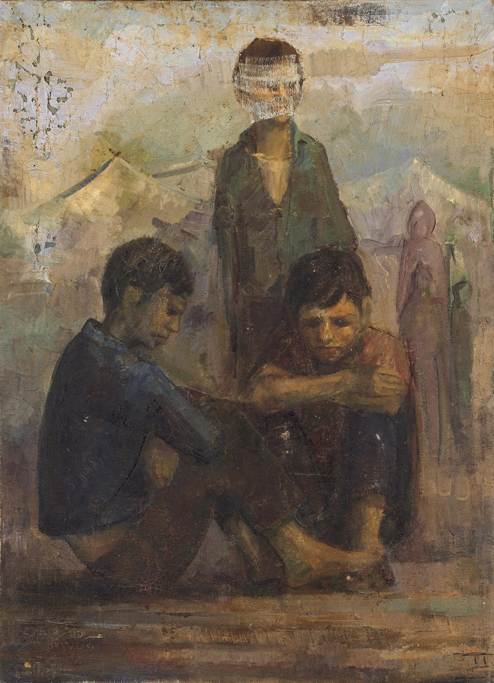 Abdulqader Al Rais, Al Intithar (The Wait), 1968. Oil on board. From the artist's private collection. Images courtesy of Dubai Arts and Culture Authority.