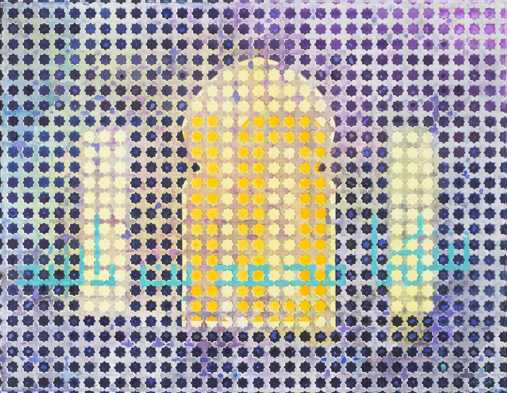 Abdulqader Al Rais, Years of Glory, 2016, Watercolour on paper. From the artist's private collection. Images courtesy of Dubai Arts and Culture Authority.