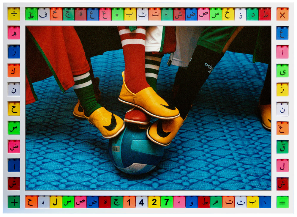 Hassan Hajjaj, Feetball (2006). Image courtesy of Hassan Hajjaj.
