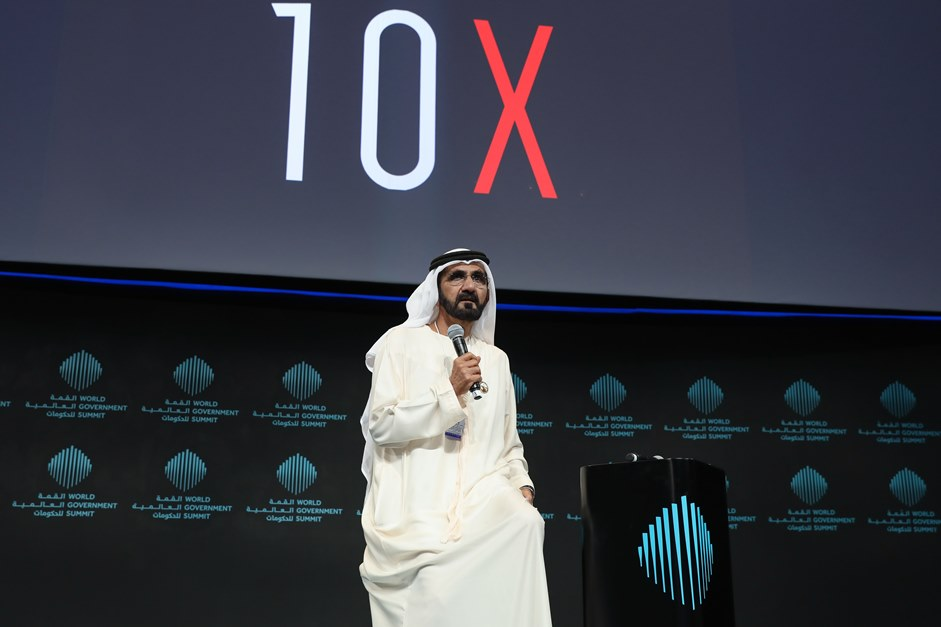 HH Sheikh Mohammed Bin Rashid Al Maktoum launches Dubai 10x. Image courtesy DFF.