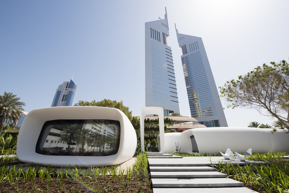Dubai Future Academy is housed in the region's first 3D printed building. Image courtesy of DFF.