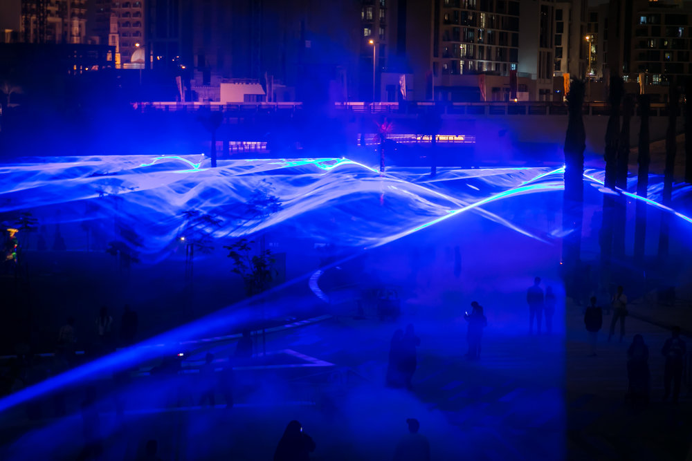 Waterlicht by Daan Roosegaarde Presented by Dubai Holding at the Jameel Arts Centre Dubai - Photo by Jalal Abuthina.
