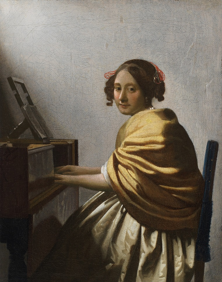 Johannes Vermeer, Young Woman Seated at a Virginal (ca. 1670-72) © The Leiden Collection,New York