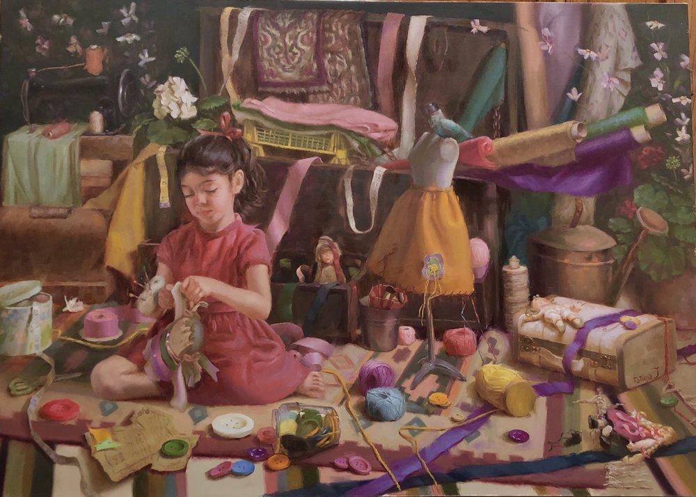 Enchanted, the painting by Fatima Atallah. Courtesy Fatima Atallah.