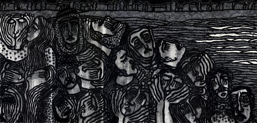 Sadik Alfraji. Weeping of the South, 2019. Image courtesy of Ayyam Gallery