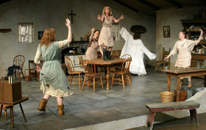 Dancing At Lughnasa , Assistant Director, Alma College, 2011.  Photo Credit: Joseph Jezewki