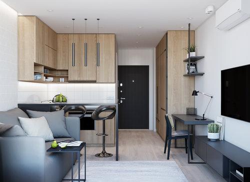 "APARTMENT-STUDIO for rent, 22 sq.m. ""Comfort Town"", Kiev, Ukraine 2018"