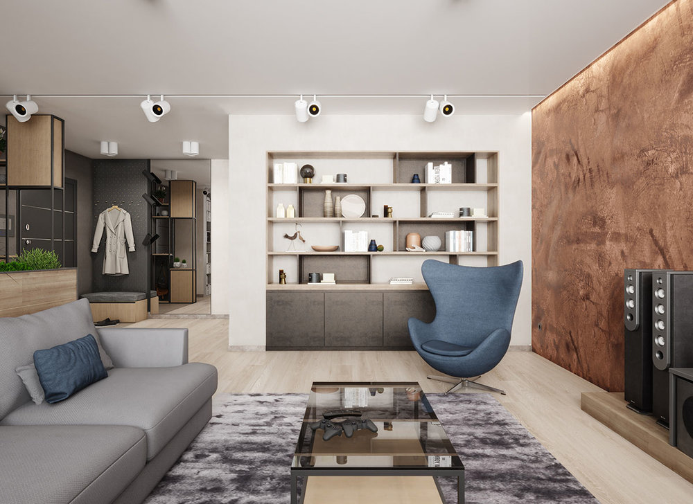 APARTMENT in the style of eco-minimalism - KievArea - 98 sq. M