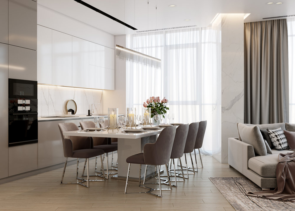 Eclectika and minamalism - Apartment with a free layout, where the main task before the designers was to create a modern minimalist, but at the same time eclectic interior that would fit the lifestyle of a young couple.The area of the object is 82 sq.m., Dnipro.