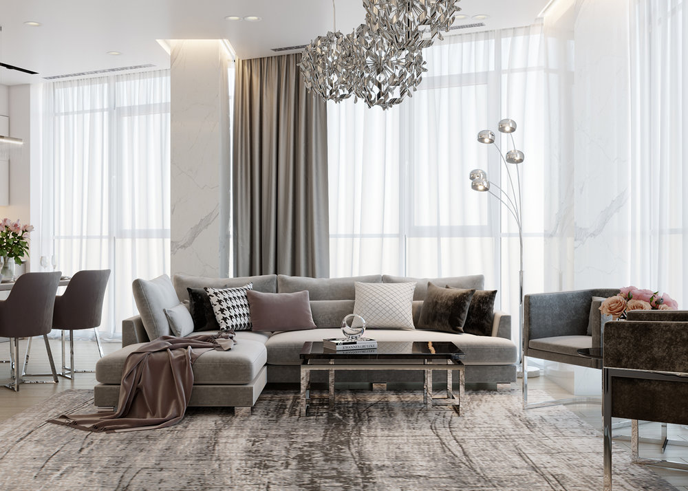 INTERIOR IN STYLE EKLEKTIKA    Apartment in Dnipro, Ukraine    PROJECT IN DEVELOPMENT, 2018