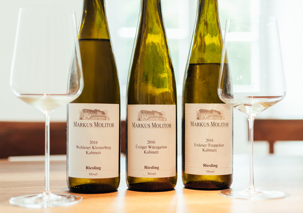 Ürziger Würzgarten Kabinett 2016:  Smooth nose, mineralic, mint, great freshness, palate with delicious green apple and grapefruit, fine minerality.
