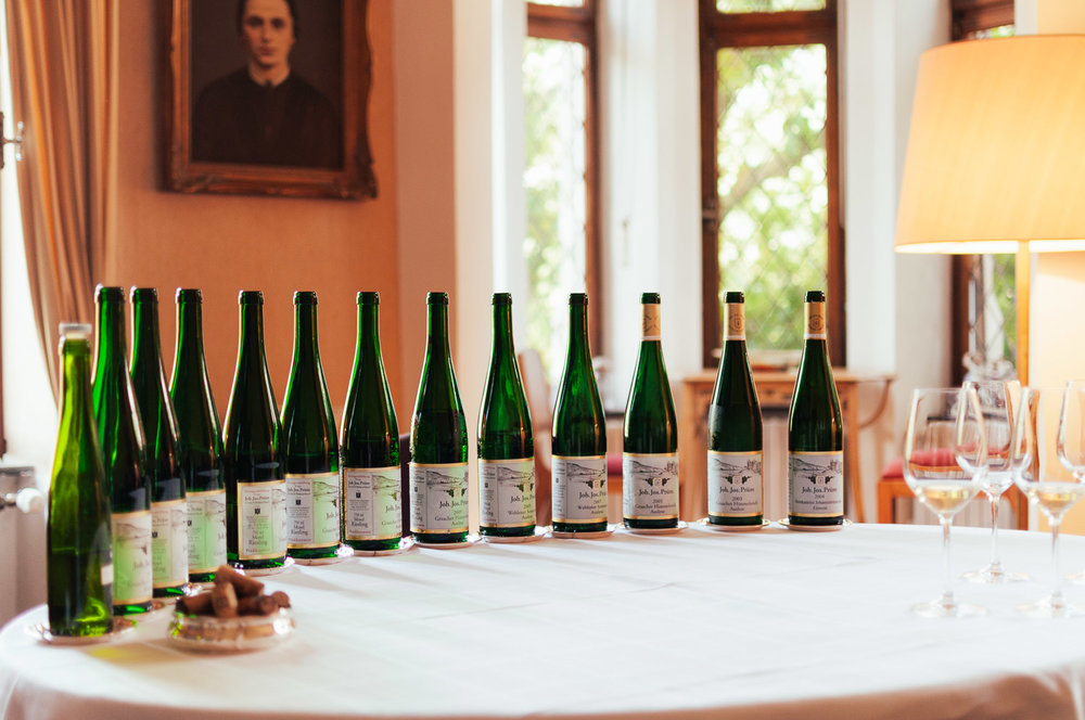 Our exclusive tasting at winery Joh. Jos. Prüm -
