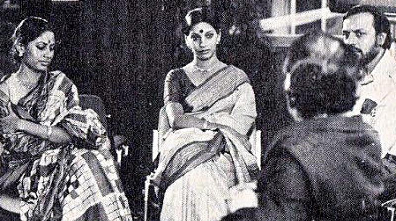 Smita Patil and Shabana Azmi,