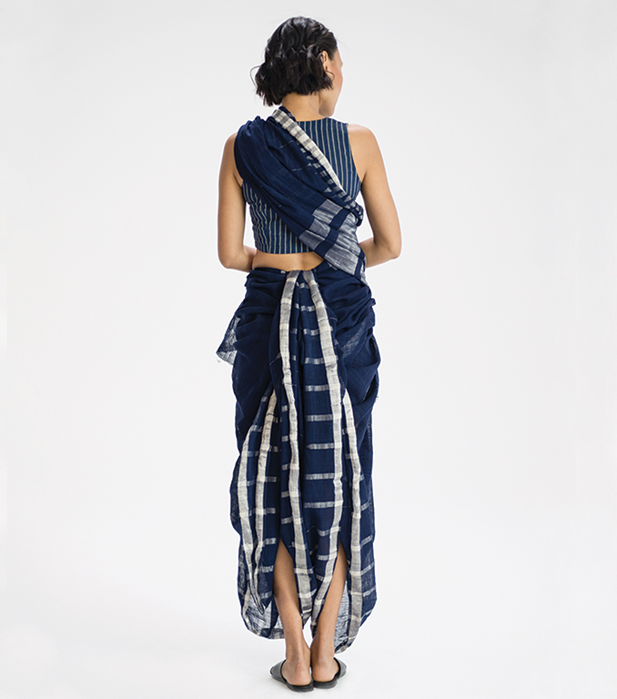 Dhangad sari drape from Goa